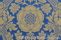 St. Margaret Rose Brocade Liturgical Fabric - Gold | Ecclesiastical Sewing