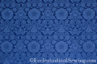 St. Margaret Brocade Liturgical Fabric - Blue | Ecclesiastical Sewing