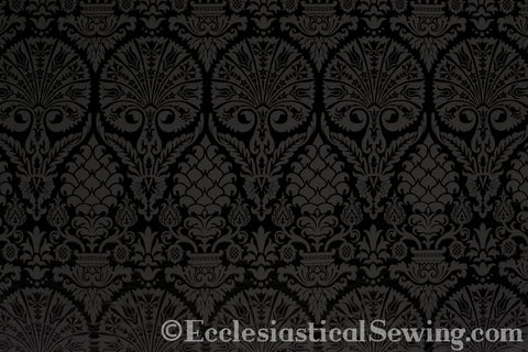 St. Nicolas Damask Liturgical Fabric For Church Vestments | All Colors