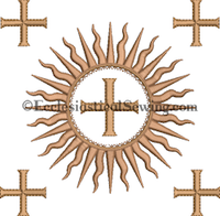 Dayspring Burse Machine Embroidery Design | Digital machine embroidery designs for Church Vestments Ecclesiastical Sewing