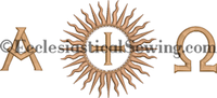 Dayspring Chalice Veil AO Design | Machine embroidery design  CHurch Vestments Ecclesiastical Sewing