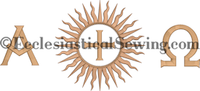 Dayspring Superfrontal Machine Embroidery Design | CHurch Vestment Machine Embroidery Designs Ecclesiasticla Sewing