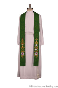 Stole Green Trinity Season Lutheran Stole | Green Pastor Priest Stole Reformation Ecclesaistical Sewing