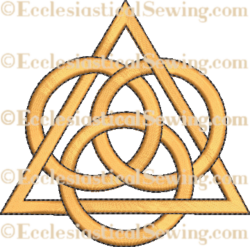 Trinity Design--Religious Machine Embroidery File