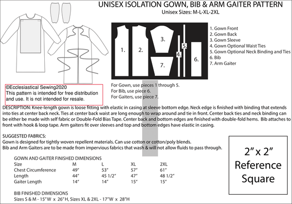 Covid 19 Isolation Gown Free Download | Patterns Ecclesiastical Sewign