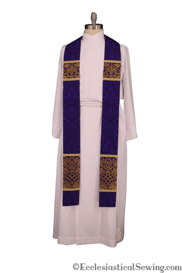 St Ambrose Stole for Lent | Lent Stoles for Pastors and Priests