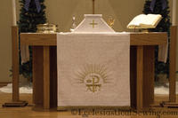 Dayspring Chi Rho Pulpit Fall, Lectern Hanging or Antependium
