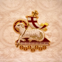 Agnus Dei Goldwork Applique for Liturgical Vestments and Chasubles