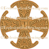 Canterbury Scroll Cross--Religious Machine Embroidery File