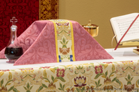 Chalice Veil and Burse in Florence Brocade (Rose) | Church Paraments