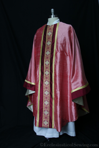 Chasuble and Stole Sets from St. Ignatius Collection | Monastic and Priest Chasubles Rose Color