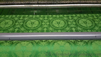 Luther Rose Liturgical Brocade Fabric - Green | Church Fabrics (All Colors)