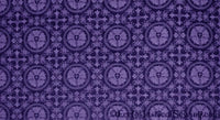 Luther Rose Liturgical Brocade Fabric - Violet | Church Fabrics (All Colors)