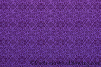 St. Aidan Church Fabric | Liturgical Brocade - Violet
