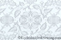 St. Aidan Church Fabric | Liturgical Brocade - White