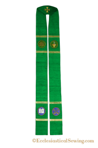 Clergy Stole Style #1 Saint Gregory of Nyssa  | Priest Stoles