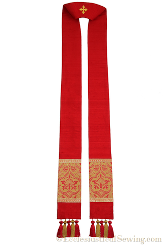 Clergy Stole in the St. Gregory Style #2 | Pastoral and Priests Stoles
