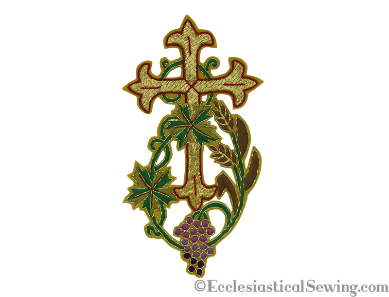products/cross-applique-gold-wheatgrapes-1.png