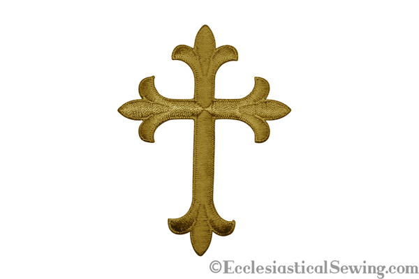 Cross Appliques w/ Iron On Backing & Latin Cross Gold