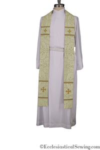 Coventry Priest Stoles (White) | Clergy Vestments | Priest Vestments and more