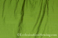 "Dupioni Silk Fabric by the Yard (Green) 45"" Width"