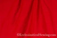 "Dupioni Silk Fabric by the Yard (Bright Red) 45"" Width"