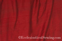 "Dupioni Silk Fabric by the Yard (Dark Red) 45"" Width"