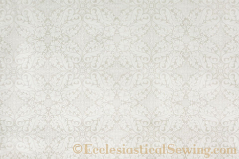 Florence Church Fabric | Brocade Fabric Bridal White