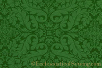 Florence Church Fabric | Brocade Fabric Green