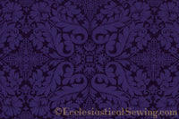 Florence Church Fabric | Brocade Fabric Purple