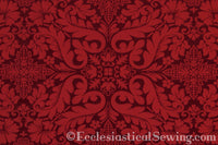 Florence Church Fabric | Brocade Fabric Red