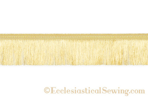 "Metallic Thread Fringe 2"" Deep Gold"