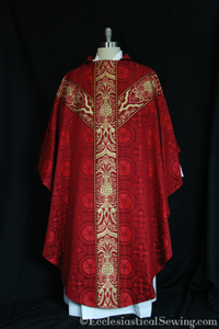 Chasuble and Clergy Stole Sets | Gothic Chasuble In Liturgical Brocade