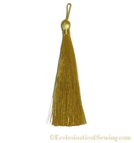 "Mini Gold Metallic Thread 3"" Long Tassel"