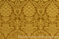 St. Nicholas Damask Liturgical Fabric For Church Vestments | Gold