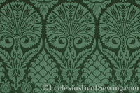 St. Nicholas Damask Liturgical Fabric For Church Vestments | Green
