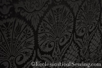 St. Nicholas Damask Liturgical Fabric For Church Vestments | Black