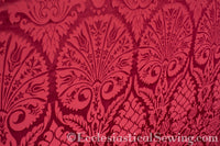 St. Nicholas Damask Liturgical Fabric For Church Vestments | Red