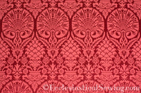 St. Nicholas Damask Liturgical Fabric For Church Vestments | Rose