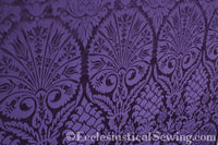 St. Nicholas Damask Liturgical Fabric For Church Vestments | Violet or Purple