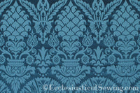 St. Nicholas Damask Liturgical Fabric For Church Vestments | Blue
