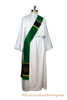 Non Denominational Stole | Alpha Omega Stole for Clergy (Black Silk)