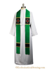Alpha Omega Silk Clergy Stole for Priest, Pastors, and Deacons