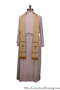 Pastoral or Priest Clergy Stole w/ Exeter Cross | Handmade Clergy Stoles