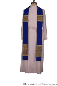 Clergy Stoles Style #1 in the St. Gregory the Great Collection | Priest Stoles - Blue