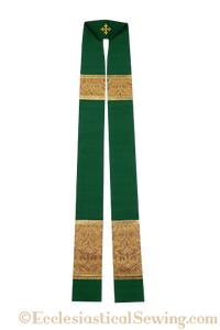 Clergy Stoles Style #1 in the St. Gregory the Great Collection | Green