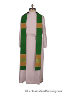 Clergy Stoles Style #1 in the St. Gregory the Great Collection | Priest Stoles - Green