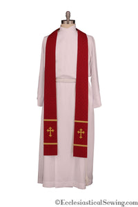 Exeter Long Clergy Stole (Quick Ship) | Pastor or Priest Stoles