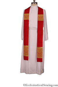 Clergy Stoles Style #1 in the St. Gregory the Great Collection | Priest Stoles - Red