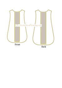 Roman Chasuble Patterns (Fiddleback) | Vestment Patterns for Sewing
